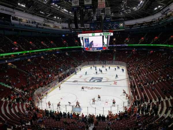 Rogers Arena, secção: 314, fila: 5, lugar: 105