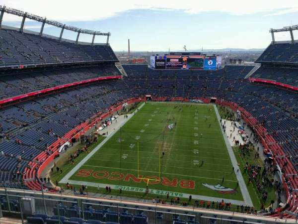 Empower Field at Mile High Stadium, secção: 520, fila: 10, lugar: 10
