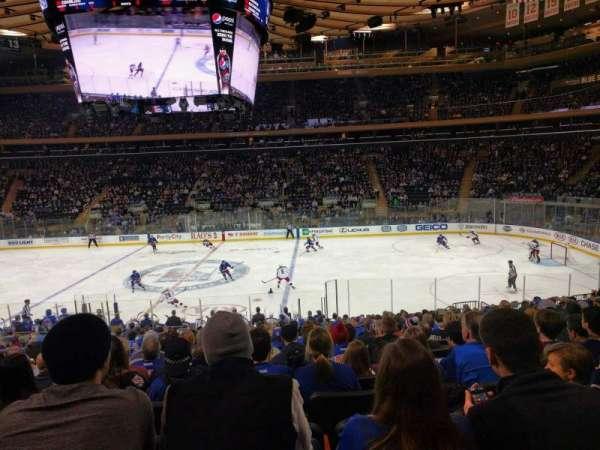 Madison Square Garden, secção: 108, fila: 20, lugar: 7