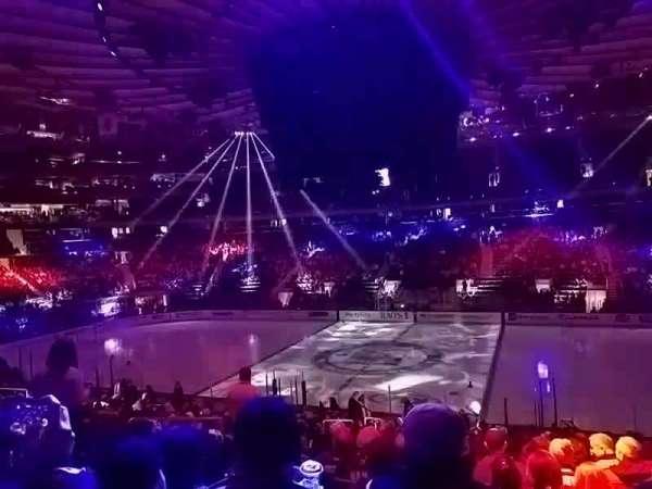 Madison Square Garden, secção: 108, fila: 20, lugar: 6