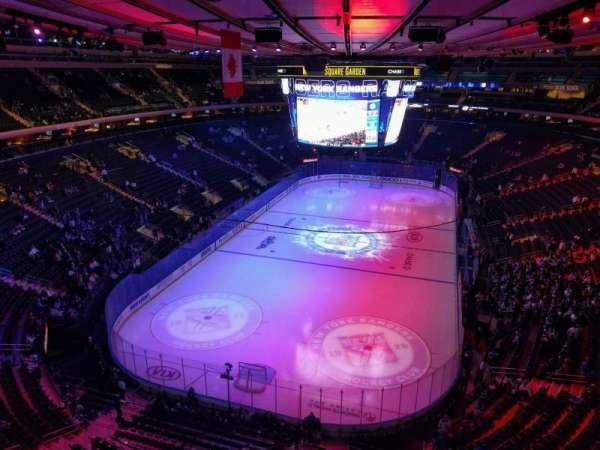 Madison Square Garden, secção: 306, fila: 1, lugar: 17