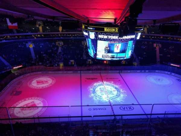 Madison Square Garden, secção: 312, fila: bs3, lugar: 16