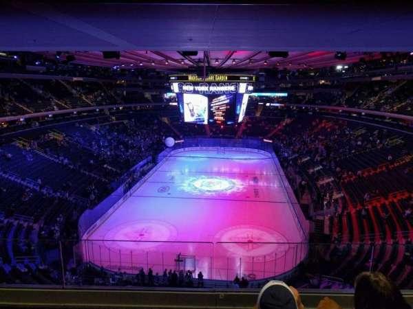 Madison Square Garden, secção: 416, fila: 3, lugar: 10
