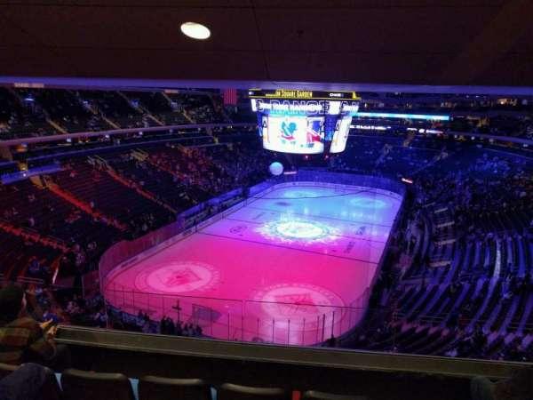 Madison Square Garden, secção: 417, fila: 4, lugar: 12
