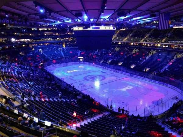 Madison Square Garden, secção: 413, fila: 1, lugar: 1