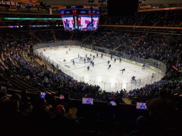 Madison Square Garden, secção: 201, fila: 6, lugar: 17