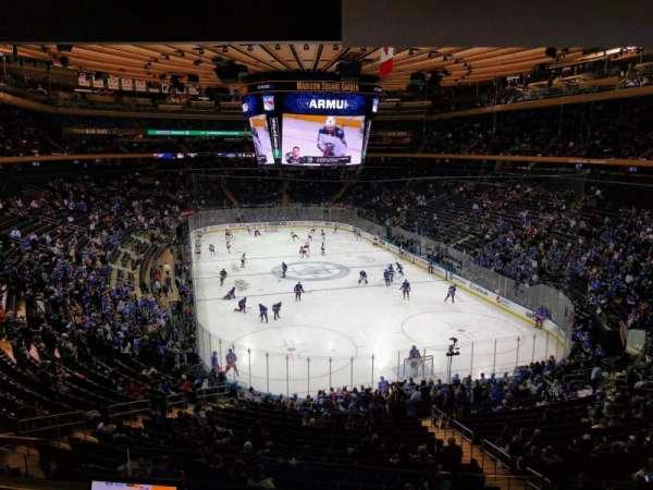 Madison Square Garden, secção: 203, fila: 3, lugar: 6