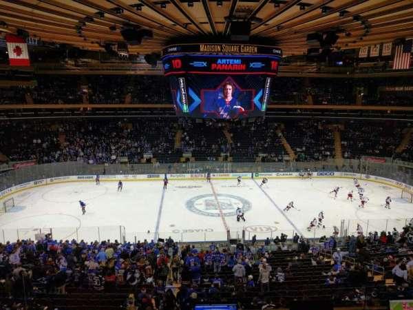 Madison Square Garden, secção: 211, fila: 4, lugar: 1
