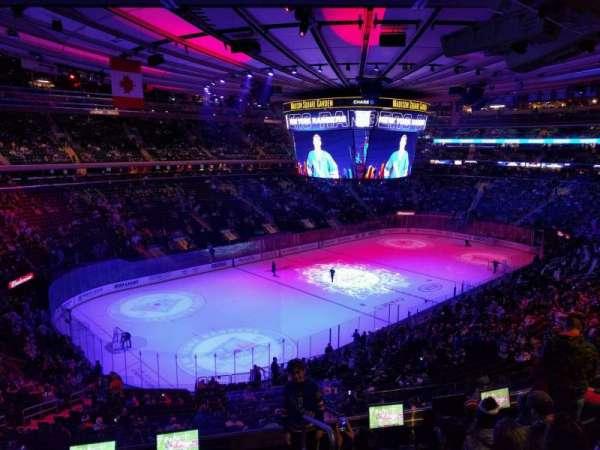 Madison Square Garden, secção: 207, fila: 6, lugar: 20