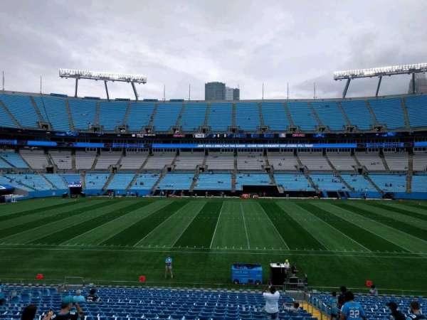 Bank of America Stadium, secção: 344, fila: 1, lugar: 4
