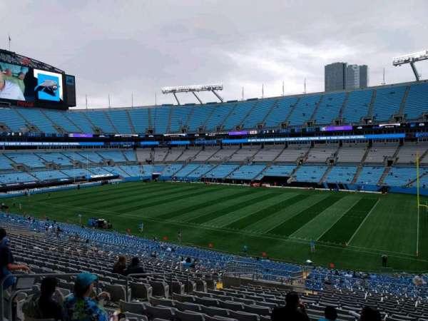 Bank of America Stadium, secção: 339, fila: 21, lugar: 11