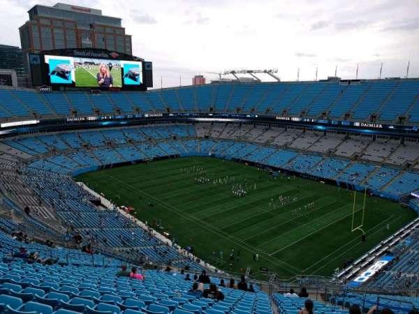 Bank of America Stadium, secção: 508, fila: 23, lugar: 7