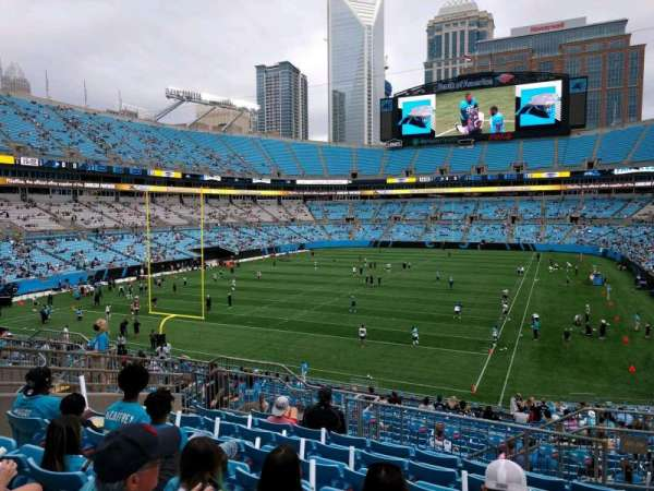 Bank of America Stadium, secção: 255, fila: 8, lugar: 4