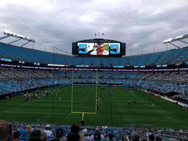 Bank of America Stadium, secção: 229, fila: 10, lugar: 9