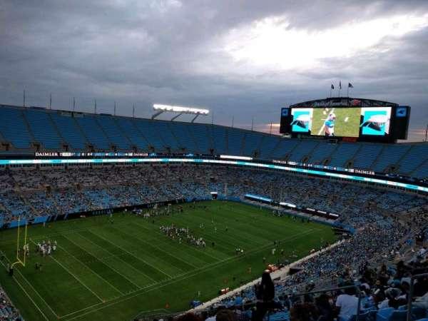 Bank of America Stadium, secção: 521, fila: 21, lugar: 8
