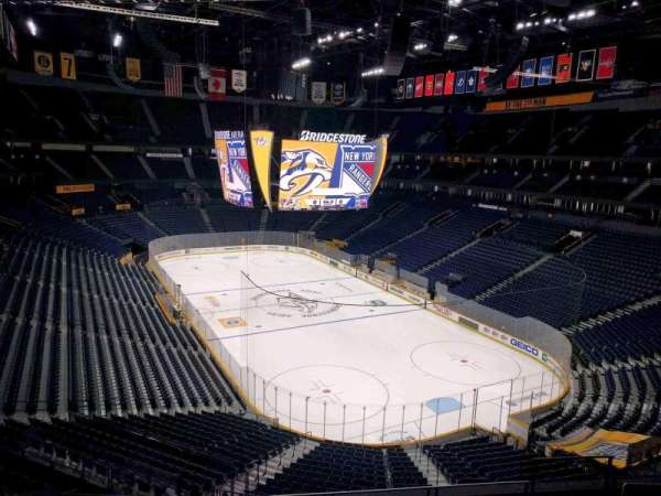 Bridgestone Arena, secção: 315, fila: g, lugar: 9