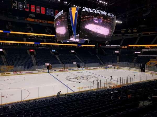 Bridgestone Arena, secção: 104, fila: m, lugar: 11