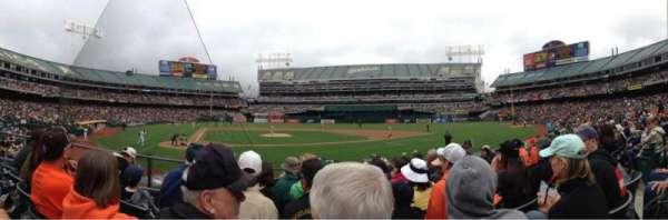 Oakland Coliseum, secção: 115, fila: 11, lugar: 5