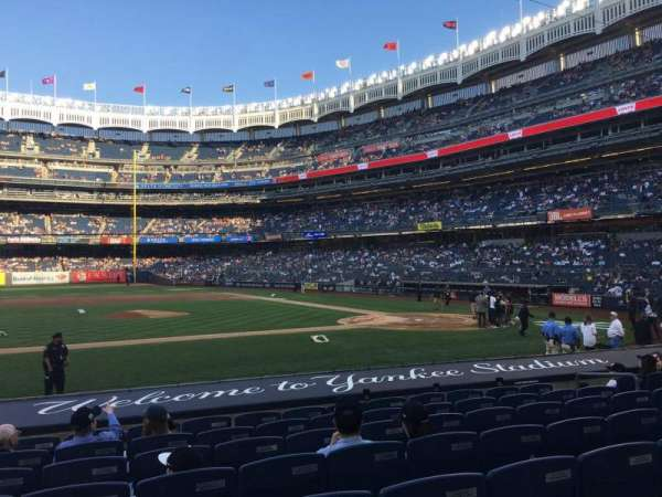 Yankee Stadium, secção: 124, fila: 1, lugar: 5