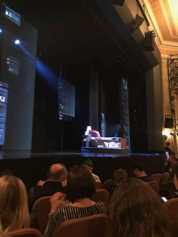 Music Box Theatre, secção: Orchestra L, fila: E, lugar: 15