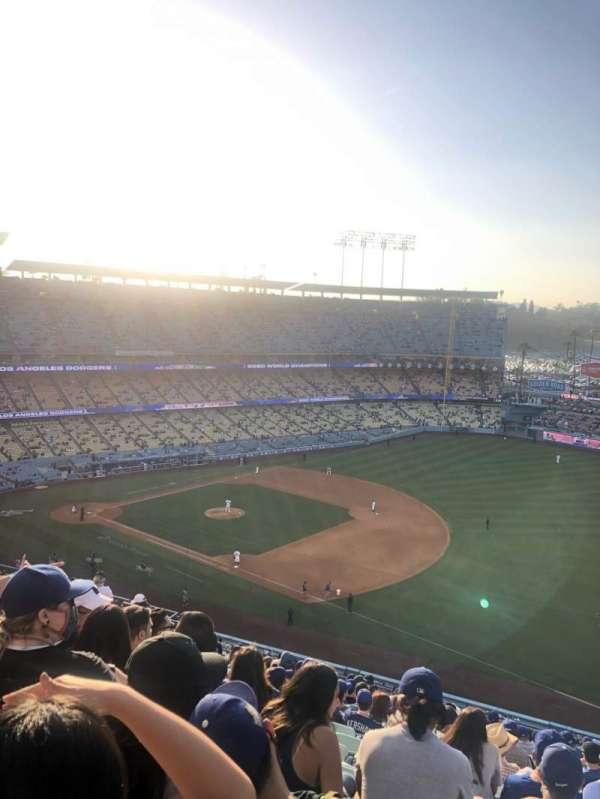 Dodger Stadium, secção: 32RS, fila: S, lugar: 20