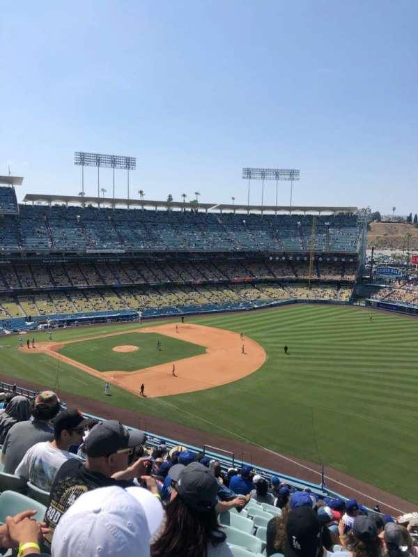 Dodger Stadium, secção: 40RS, fila: P, lugar: 13