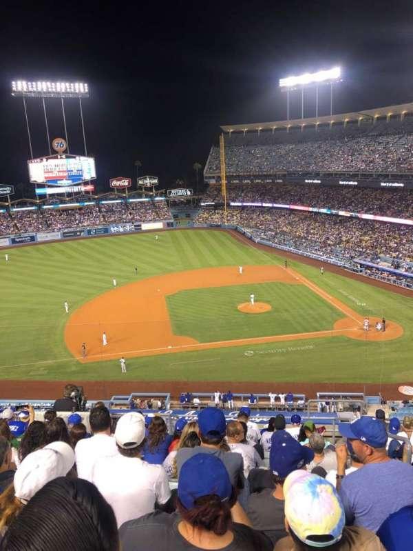 Dodger Stadium, secção: 19RS, fila: L, lugar: 2