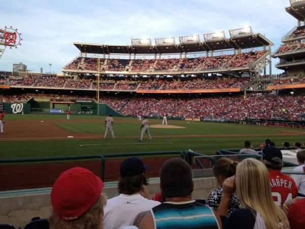 Nationals Park, secção: 115, fila: H, lugar: 6