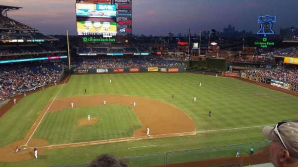 Citizens Bank Park, secção: 316, fila: 3, lugar: 5