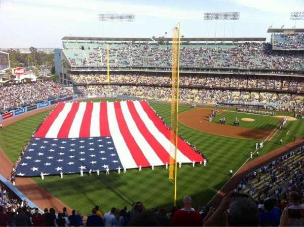 Dodger Stadium, secção: 55RS, fila: U, lugar: 18