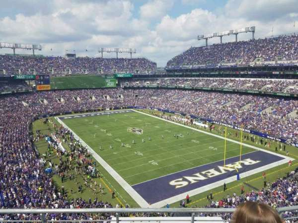 M&T Bank Stadium, secção: 517, fila: 3, lugar: 8