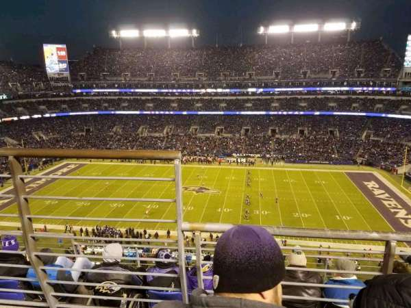 M&T Bank Stadium, secção: 525, fila: 5, lugar: 14