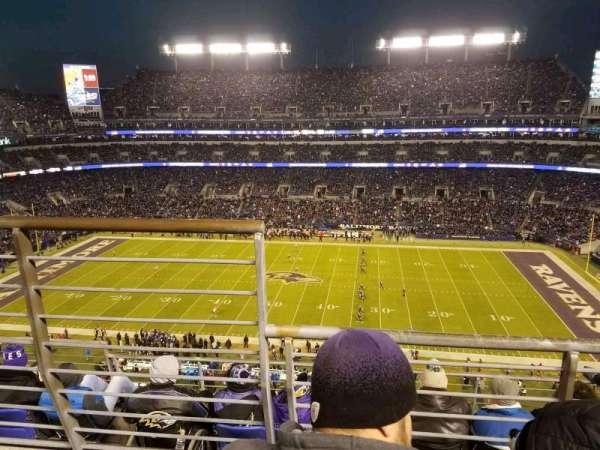 M&T Bank Stadium, secção: 525, fila: 5, lugar: 14