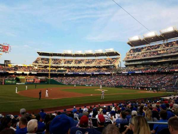 Nationals Park, secção: 113, fila: T, lugar: 5