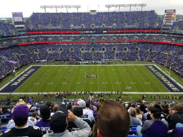 M&T Bank Stadium, secção: 553, fila: 21, lugar: 20