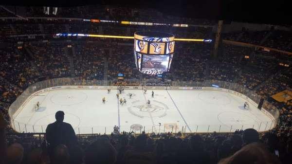 Bridgestone Arena, secção: 309, fila: P, lugar: 20