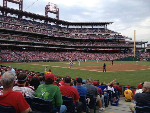 Citizens Bank Park, secção: 112, fila: 15, lugar: 18