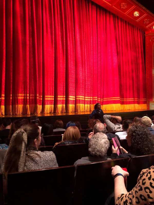 Marquis Theatre, secção: Orchestra L, fila: F, lugar: 11