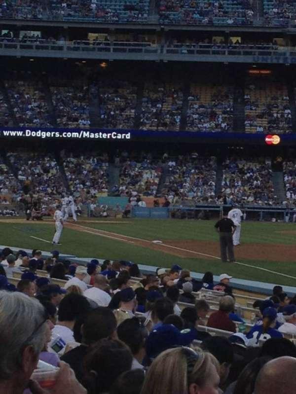 Dodger Stadium, secção: 44FD, fila: H, lugar: 13