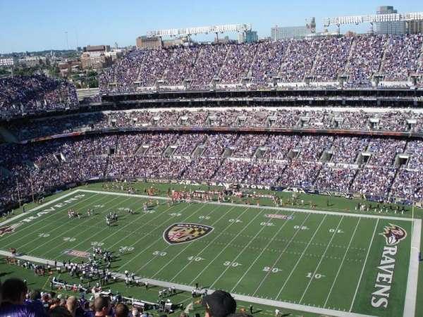 M&T Bank Stadium, secção: 522, fila: 30, lugar: 23