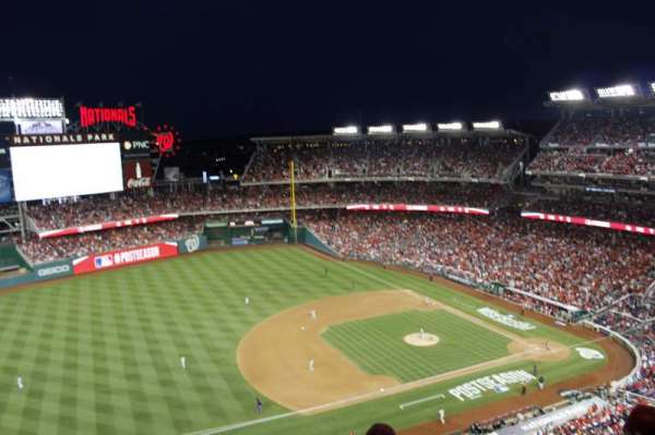 Nationals Park, secção: 405, fila: e, lugar: 6