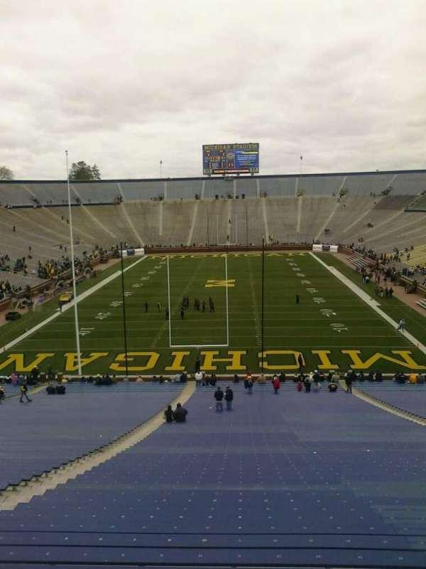 Michigan Stadium, secção: 33, fila: 62, lugar: 18