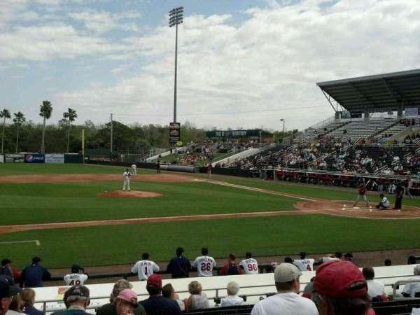 Hammond Stadium at CenturyLink Sports Complex, secção: 113, fila: 12, lugar: 10