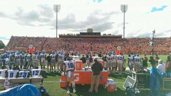 Doyt Perry Stadium, secção: 14L, fila: 1, lugar: 3