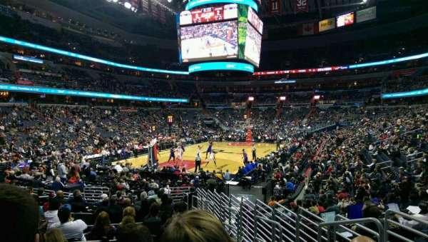 Capital One Arena, secção: 118, fila: P, lugar: 14