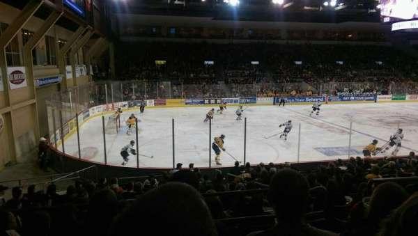 Erie Insurance Arena, secção: 201, fila: P, lugar: 6