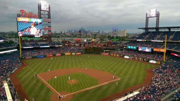 Citizens Bank Park, secção: 419, fila: 1, lugar: 9