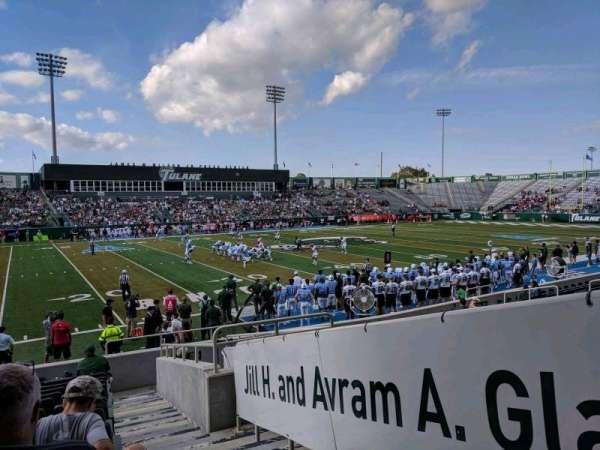 Yulman Stadium, secção: 103, fila: M, lugar: 1