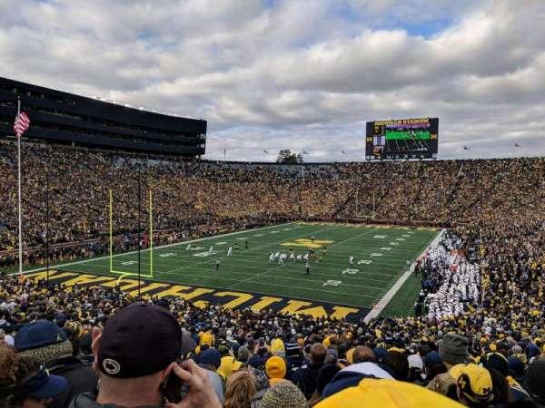 Michigan Stadium, secção: 9, fila: 51, lugar: 5