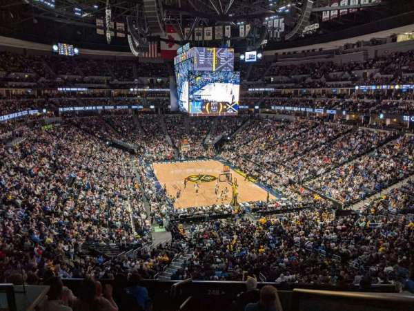 Ball Arena, secção: 248, fila: 1, lugar: 13